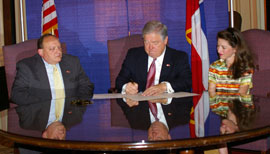 Bill Signing With Governor Barbour